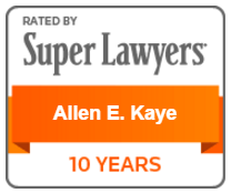 Super Lawyers Award - Allen E. Kaye